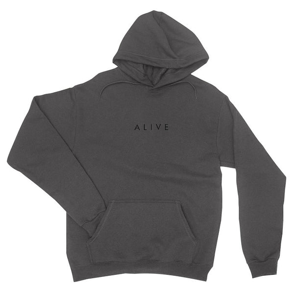 ALIVE LOGO HOODIE Charcoal