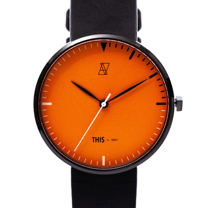 "【GUERRILLA SALE 40%OFF】ALIVE × THIS by INARI ""THIS IS IT"" WATCH & EYEWEAR SET ORANGE"