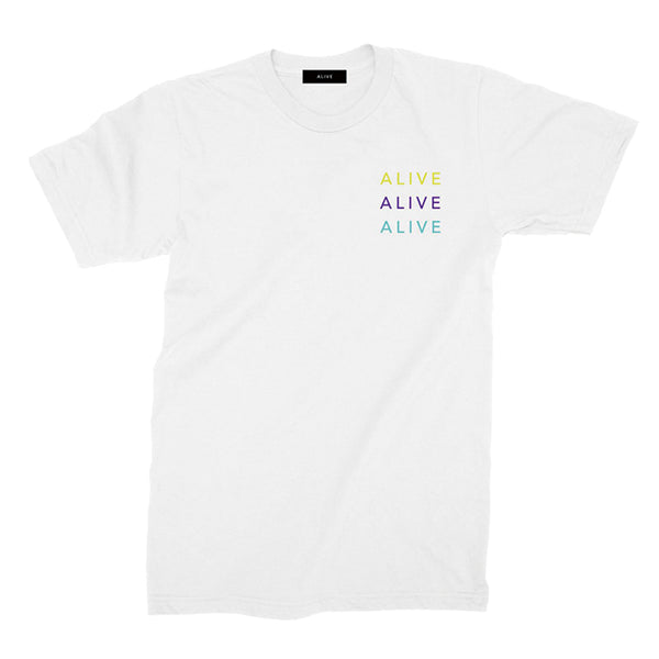 【NEW YEAR SALE 40%OFF】ALIVE×3 LOGO TEE WHITE