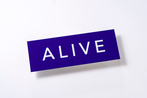 ALIVE LOGO STICKER Purple