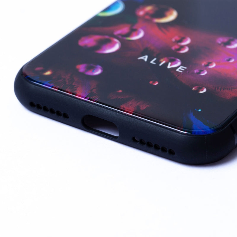 ALIVE iPhone Case (7/8, 7/8 Plus, X/XS, X Max, XR) NEON BUBBLE