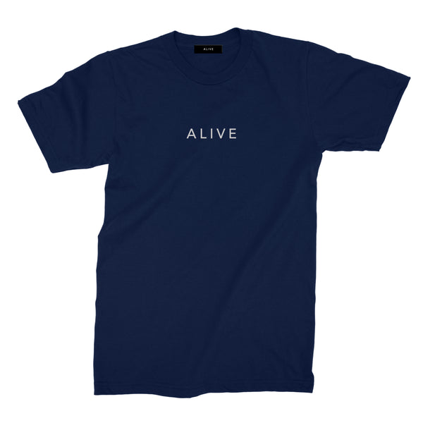 【SALE 30%OFF】ALIVE LOGO TEE Navy