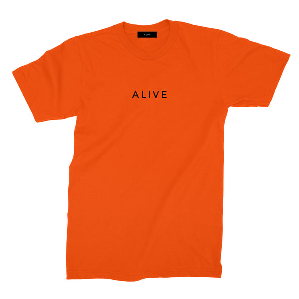 【SALE 30%OFF】ALIVE LOGO TEE Orange