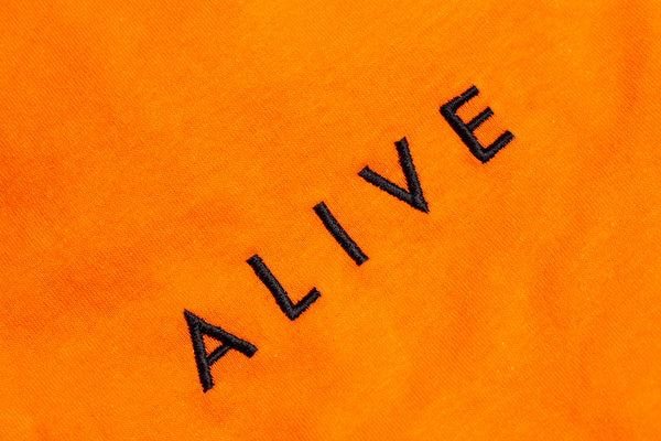 ALIVE LOGO TEE Orange