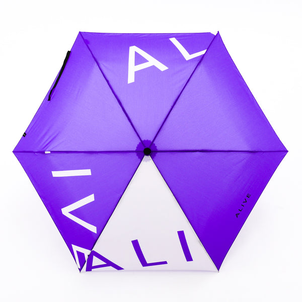 ALIVE UMBRELLA 自動開閉傘 Purple Logo