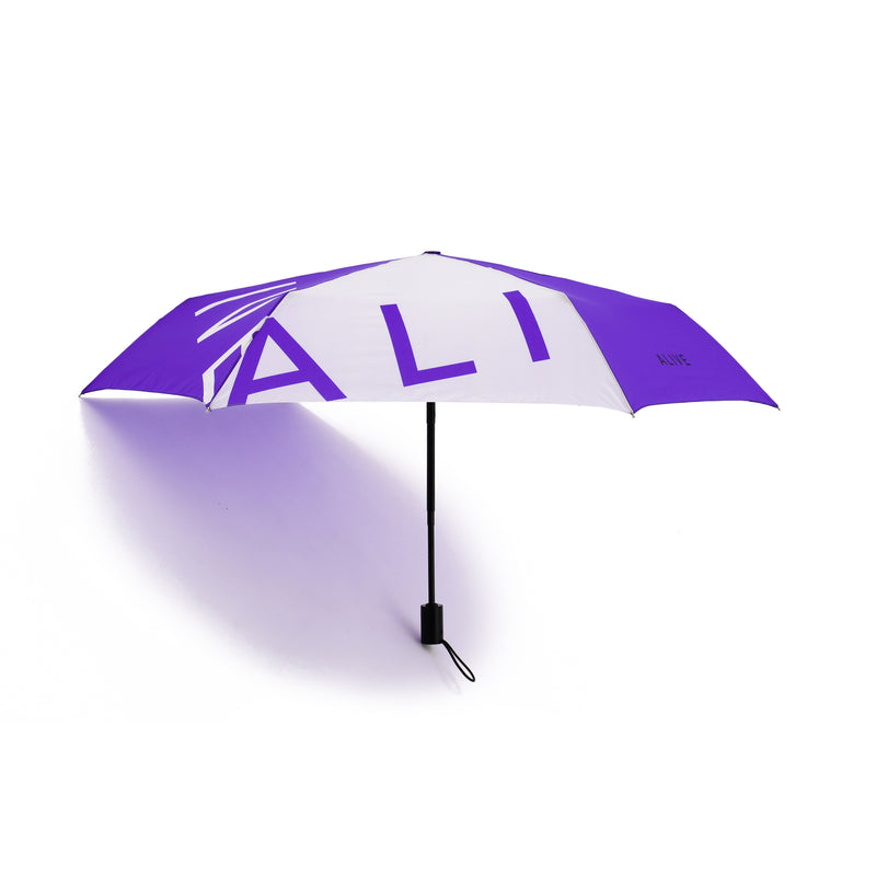ALIVE UMBRELLA Automatic Open Close Purple Logo