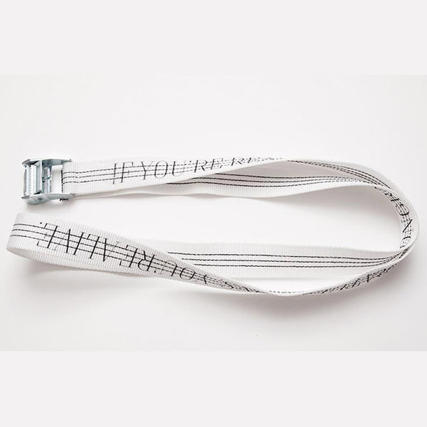 YOU'RE ALIVE BELT  White