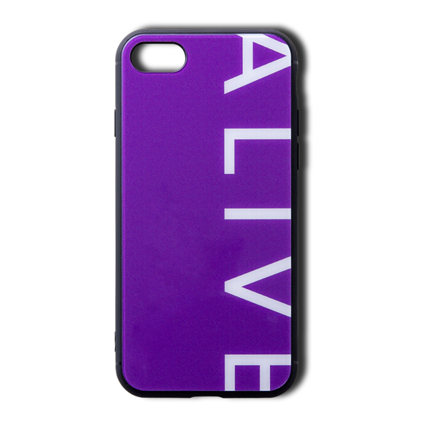 【NEW YEAR SALE 30%OFF】ALIVE iPhone Case (7/8, 7/8 Plus, X/XS, X Max, XR, 11, 11 Pro, 11 Pro Max)PURPLE LOGO