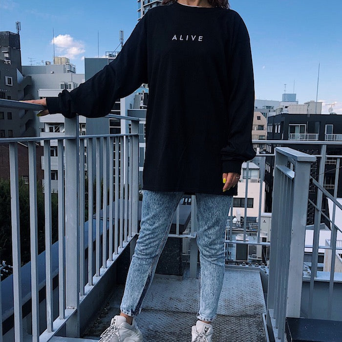 【NEW YEAR SALE 30%OFF】ALIVE LOGO L/S TEE Black