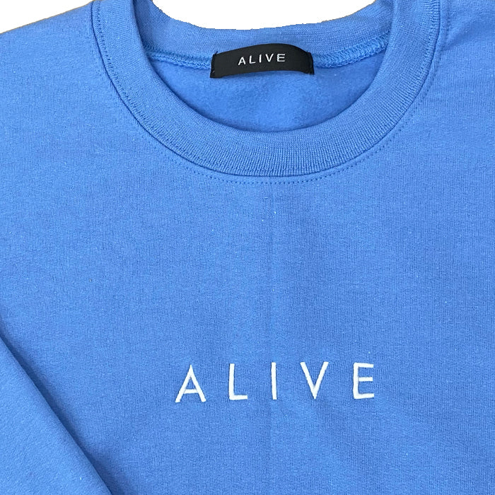 ALIVE LOGO CREW NECK Carolina Blue
