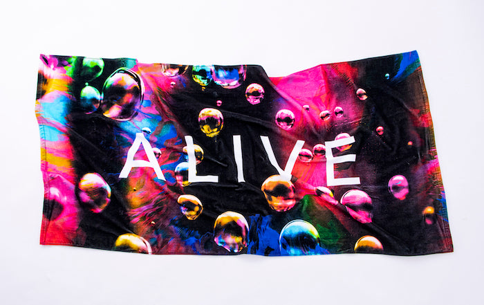 【NEW YEAR SALE 60%OFF】NEON BUBBLE BEACH TOWEL