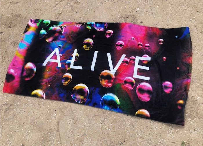 NEON BUBBLE BEACH TOWEL