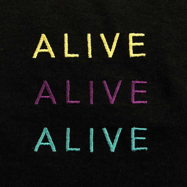 【NEW YEAR SALE 40%OFF】ALIVE×3 LOGO TEE BLACK