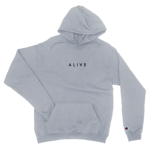 ALIVE LOGO HOODIE GRAY