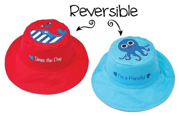 Flapjack Kids Hat Whale/Octopus - Bluenose2CompanyStore