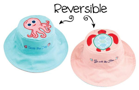 Flapjack Kids Hat Octopus/Sea Turtle - Bluenose2CompanyStore