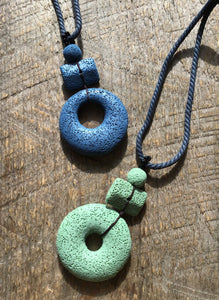 Lava Stone Necklace - Green