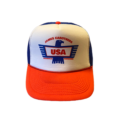 Red, White, and Blue USA Eagle Trucker Hat