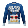 Ugly Santa Goes Down Christmas Sweater - HMC Brands
