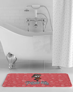 Pirate Kids Ms Treasure Bath Mat - BLK