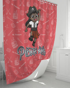 Pirate Kids Ms Treasure Shower Curtain 72