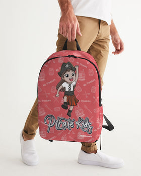 Pirate Kids Ms. Treasure Large Backpack - WHT