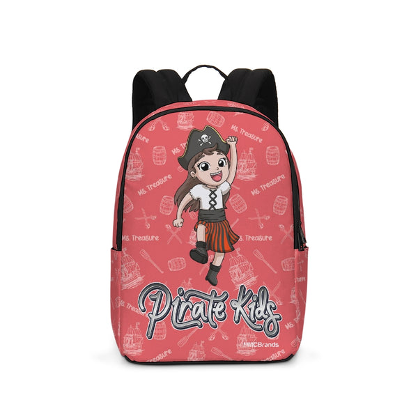 Pirate Kids Ms. Treasure Large Backpack - WHT - HMC Brands