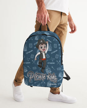 Pirate Kids Lil Captain Large Backpack - WHT