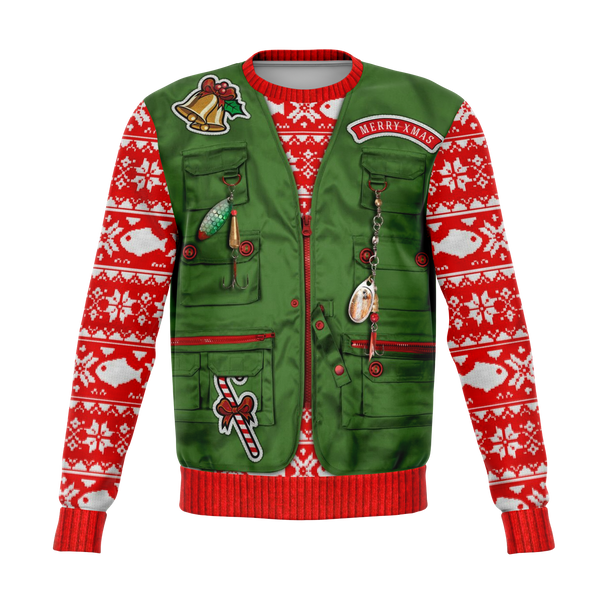 Ugly Merry Fishmas Christmas Sweater - HMC Brands