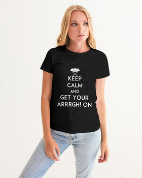 Pirates Keep Calm Women's Graphic Tee