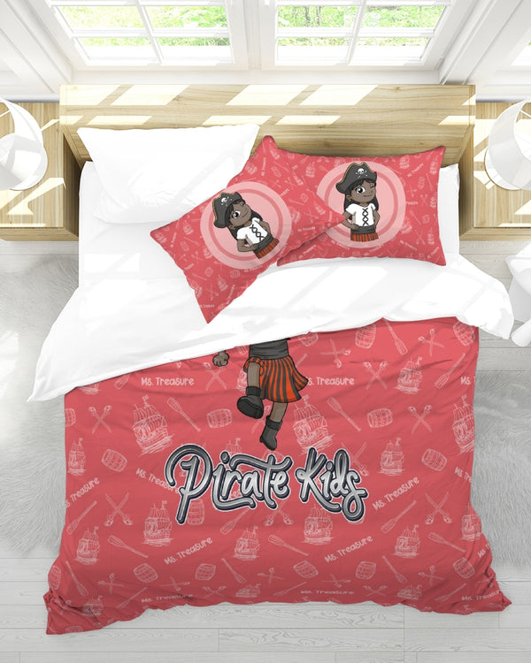 Pirate Kids Ms Treasure Queen Duvet Cover Set - BLK - HMC Brands