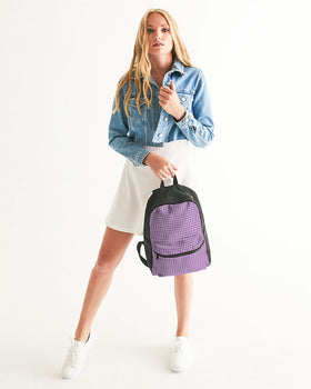 Purple Dance Adventures Small Canvas Backpack