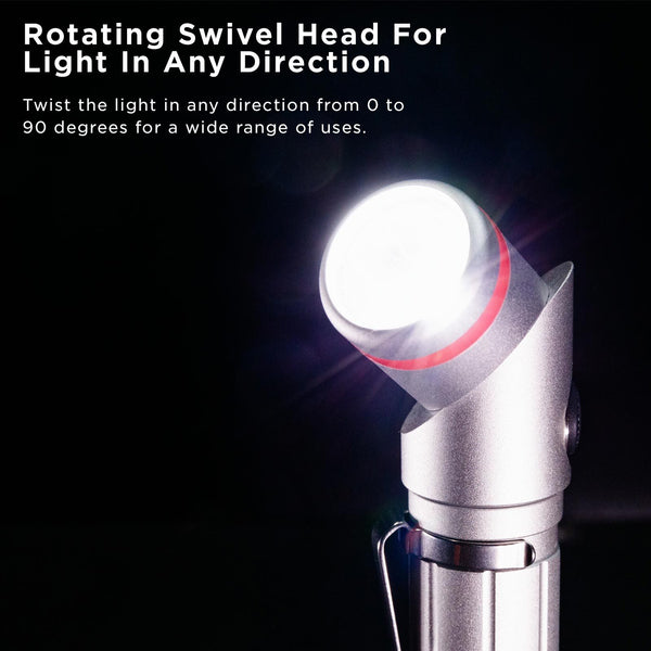 Nano Torch Twist High-Powered, Pivoting Head Flashlight - HMC Brands