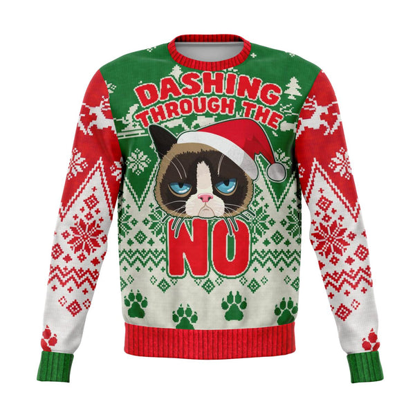 Ugly Grumpy Cat Christmas Sweater - HMC Brands
