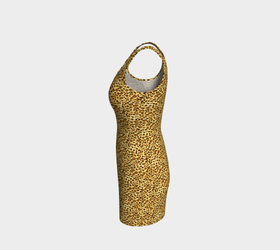 Women's Cheetah Skin Print Bodycon Dress