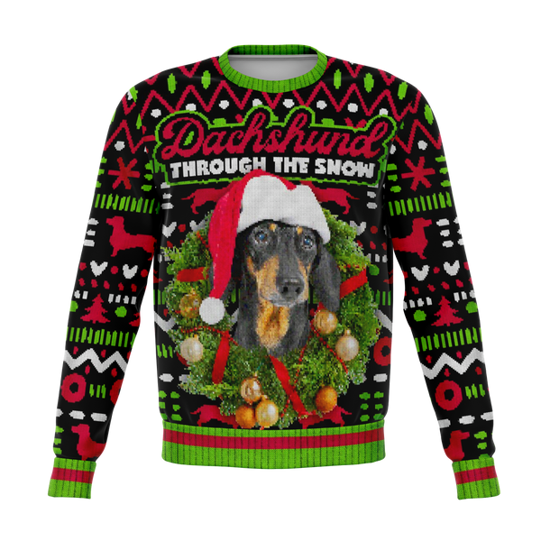 Ugly Dachshund Through The Snow Christmas Sweater - HMC Brands