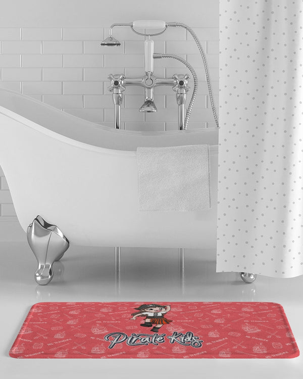 Pirate Kids Ms. Treasure Bath Mat - WHT - HMC Brands