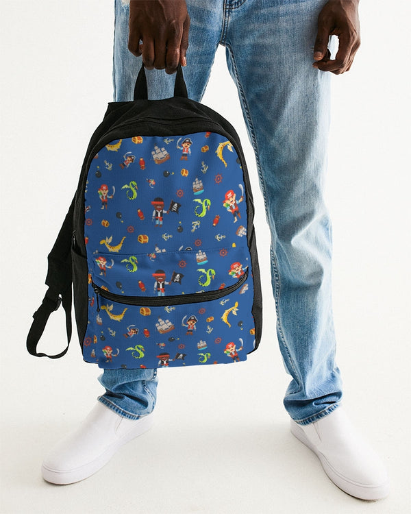 Pirate Boys Small Canvas Backpack