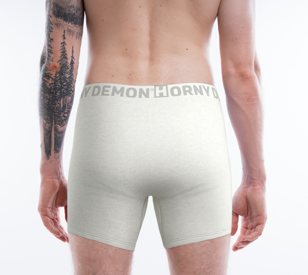 Boxer Briefs - White Out Horny Demon Men's Underwear - HMC Brands
