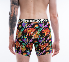 Boxer Briefs - Neon Leafs Horny Demon Men's Underwear