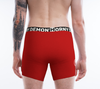 Boxer Briefs - Mustache Red Horny Demon Men's Underwear - HMC Brands