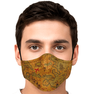 Pirates Road Map Face Mask
