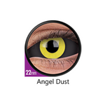 Black and Yellow Color Lenses Sclera Angel Dust 22 mm ColourVue - Crazy Lenses 6 months use