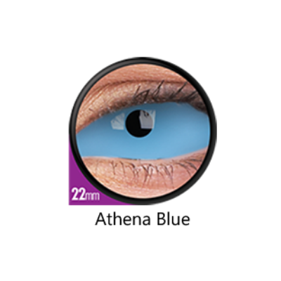 Blue Color Lenses Athena Blue Sclera 22 mm ColourVue - Crazy Lenses 6 months use