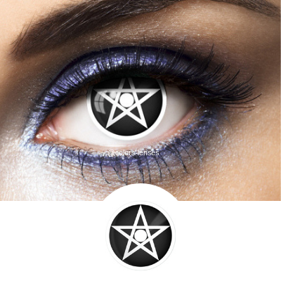 Black Contacts Pentagram - Crazy Lenses of 1 Year Use