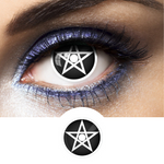 black fantasy contact lenses pentagram