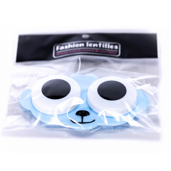 Blue dog contact lenses case holder