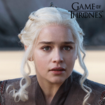 Blue Lenses Daenerys from Game of Thrones - Natural Diamonds Blue Sea 1 Year Use