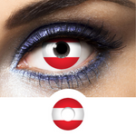 Contact Lenses Flag Austria Red and white