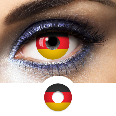 Black, Red and Yellow Contact Lenses Flag Germany - 1 Year